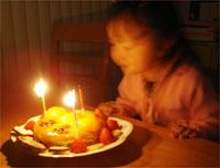 アンパンマンケーキでお祝い